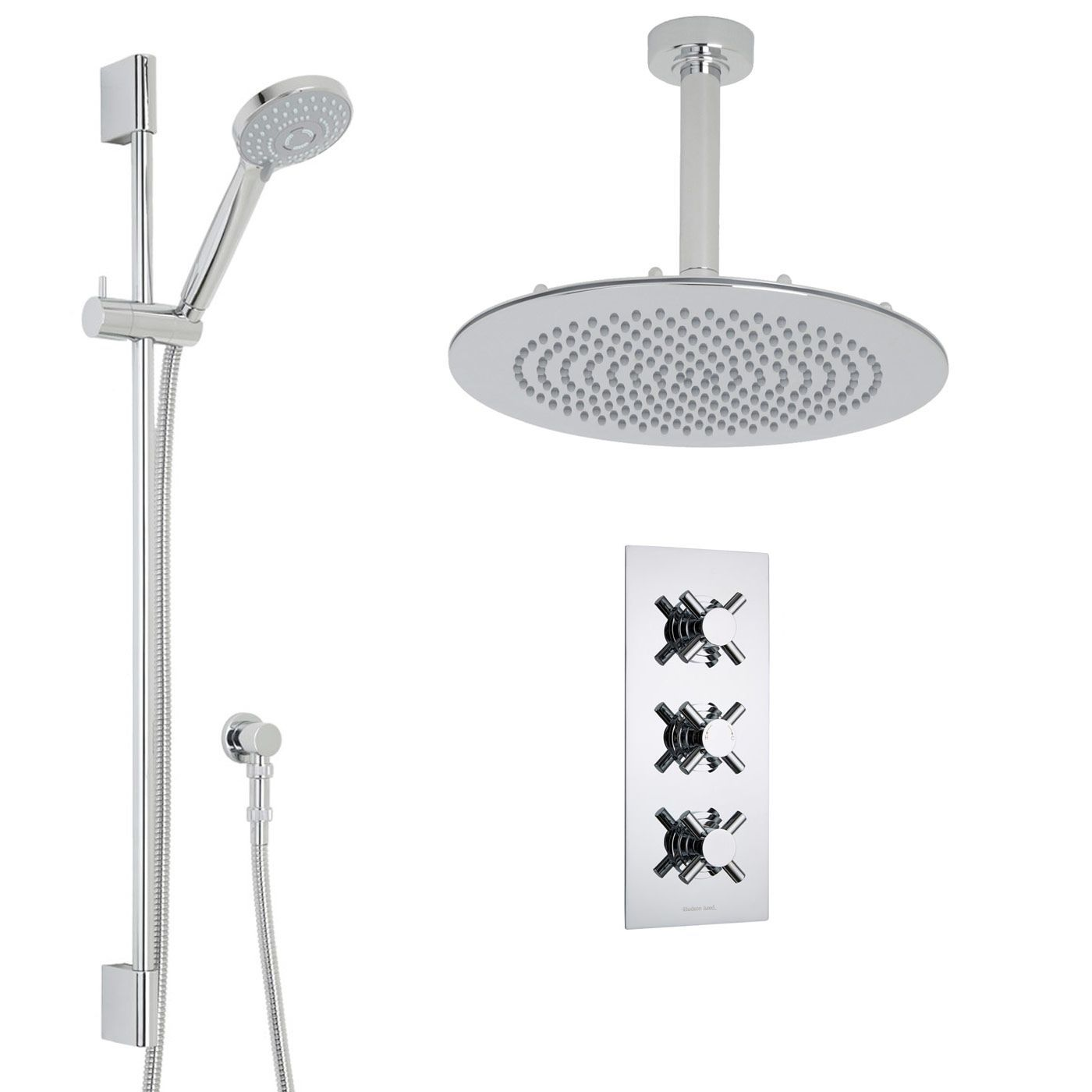 Kristal Thermostatic Shower System with 12\
