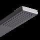 Harding Stainless Steel Rigid Shower Kit, Bottom Inlet Black Finish