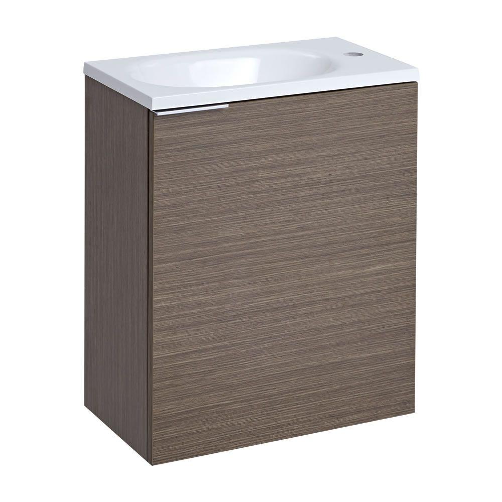 randwick 20 39 39 oak wall mount bathroom vanity. Black Bedroom Furniture Sets. Home Design Ideas