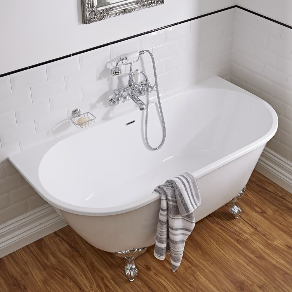 Acrylic Back To Wall Freestanding Bath Tub 60 Quot