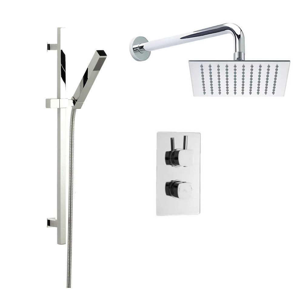 Kia/jule Twin Concealed Thermostatic Shower With Diverter, 8 ...