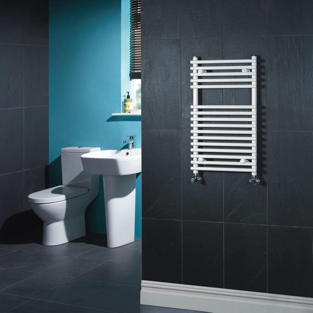 Ischia Hydronic White Heated Towel Warmer 29 5 Quot X 17 75 Quot