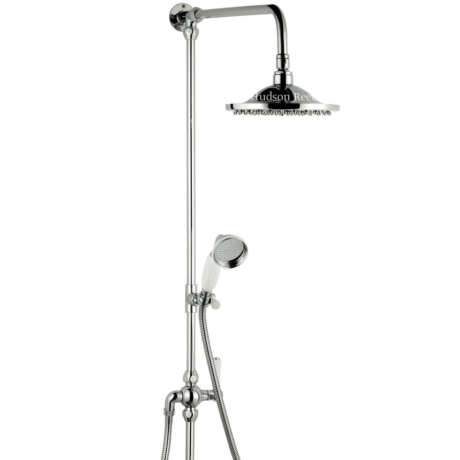 Traditional Chrome Grand Rigid Riser Over Head and Hand Held ...