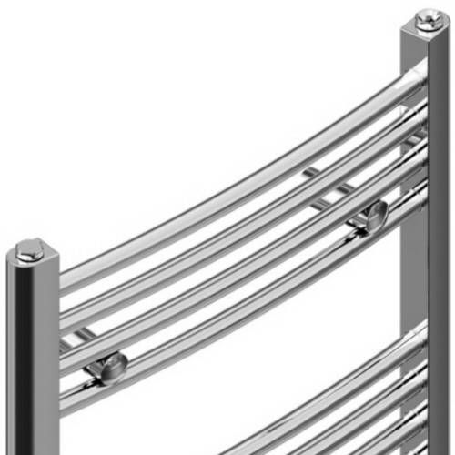 Linosa Hydronic Chrome Heated Towel Warmer 70 75 Quot X 23 5 Quot