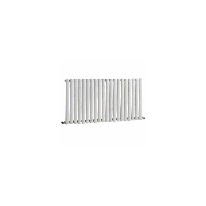 "Revive - White Horizontal Single-Panel Designer Radiator - 25"" x 46.5"""