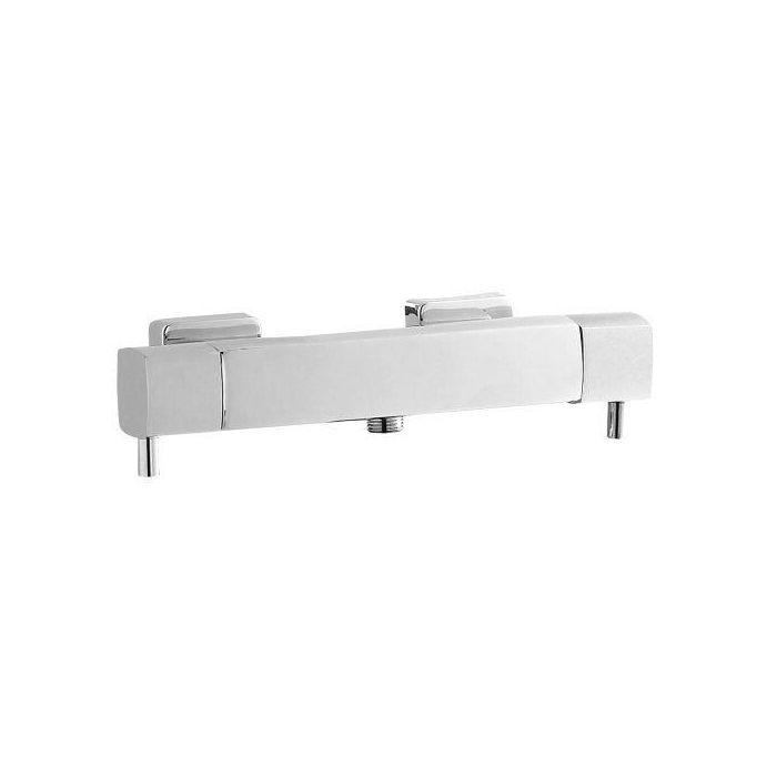 Quadro Thermostatic Bar Shower Valve (Bottom Outlet)