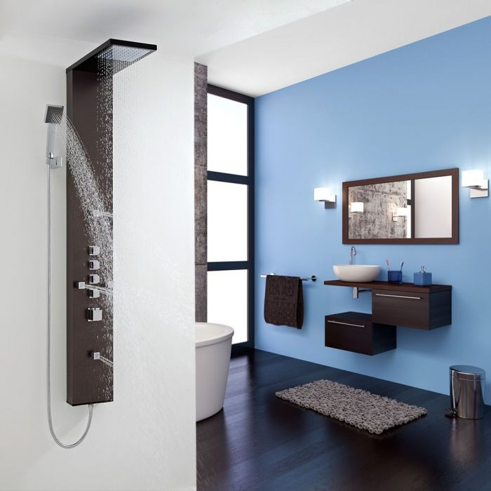 Thermostatic Shower Panel with 4 Body Jets