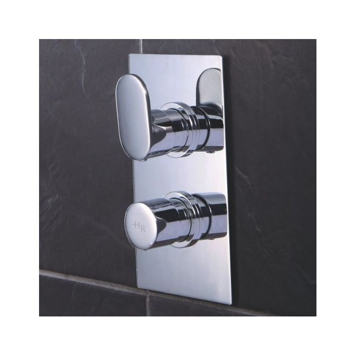 Cloud 9 Concealed Thermostatic Twin Shower Faucet Valve with Diverter 2 Outlet Options