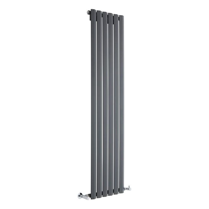 "Edifice - Anthracite Vertical Single-Panel Designer Radiator - 63"" x 16.5"""