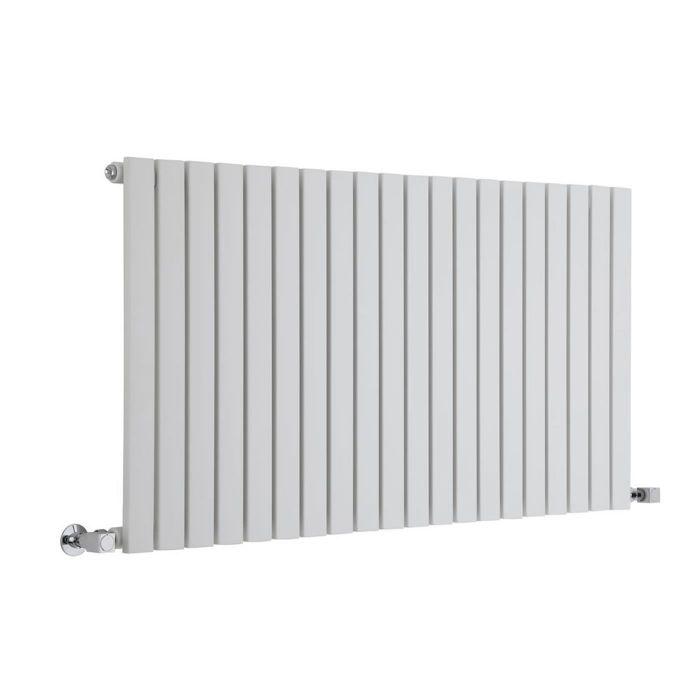 "Sloane - White Horizontal Single Flat-Panel Designer Radiator - 25"" x 46.5"""