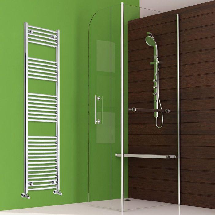 "Etna - Hydronic Chrome Heated Towel Warmer - 70.75"" x 19.75"""