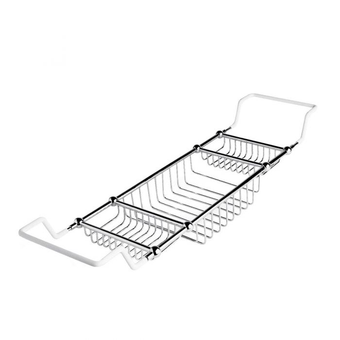 Adjustable Bath Rack in Chrome Finish