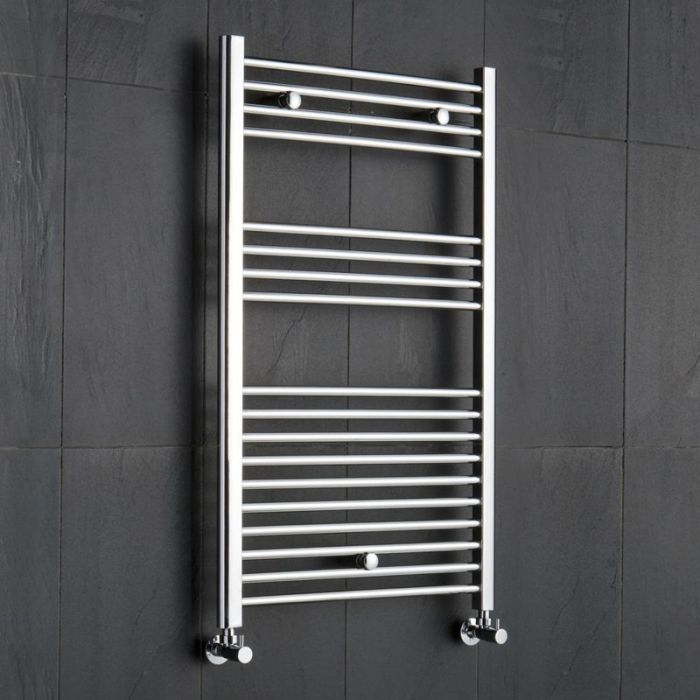 "Linosa - Hydronic Chrome Heated Towel Warmer - 39.25"" x 19.75"""
