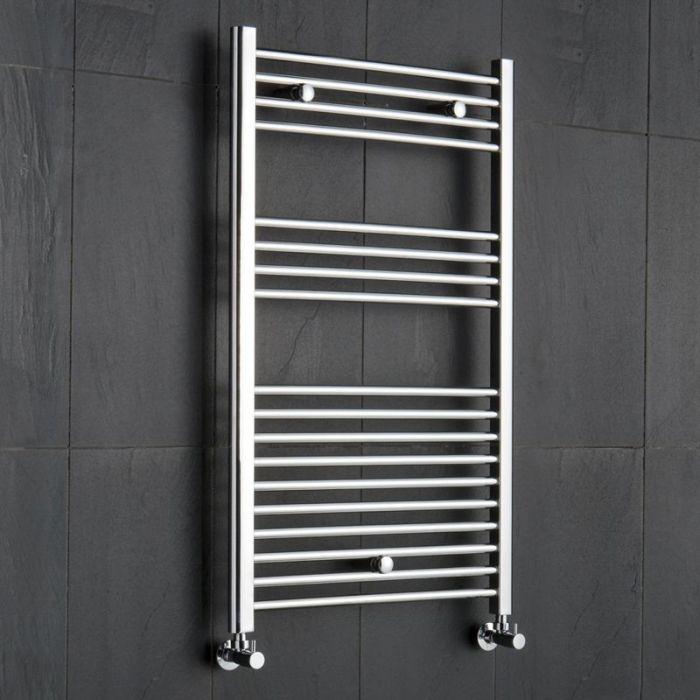 "Linosa - Hydronic Chrome Heated Towel Warmer - 39.25"" x 23.5"""
