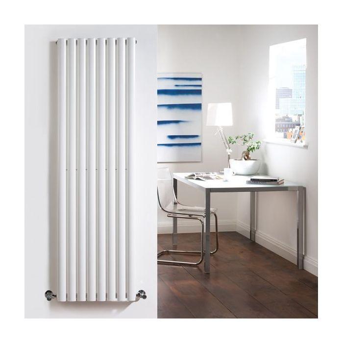 "Revive - White Vertical Single-Panel Designer Radiator - 70"" x 18.5"""