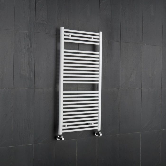"Etna - Hydronic White Heated Towel Warmer - 47.25"" x 23.5"""