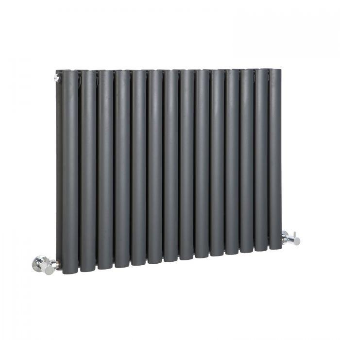 """Revive - Anthracite Horizontal Double-Panel Designer Radiator - 25"""" x 32.75"""""""