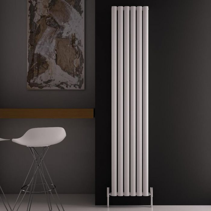 "Revive Air - White Aluminum Vertical Double-Panel Designer Radiator - 70.75"" x 13.75"""
