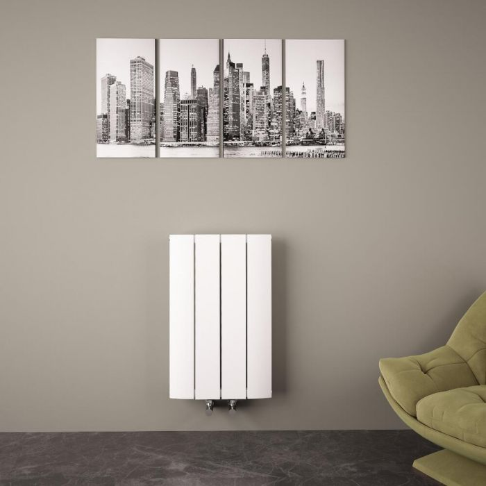 "Aurora - White Aluminum Horizontal Designer Radiator - 23.5"" x 14.75"""