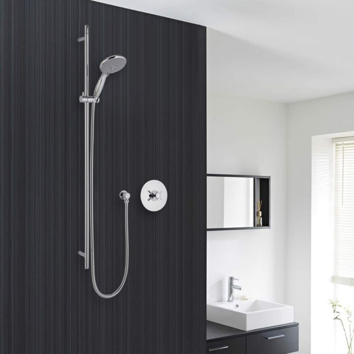 Traditional Concealed Shower System with Multifunction Handshower and Slide Rail Kit