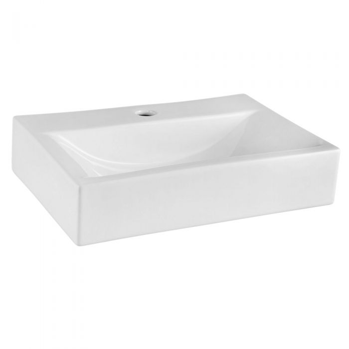 Modern Rectangular Porcelain Vessel Sink 18""