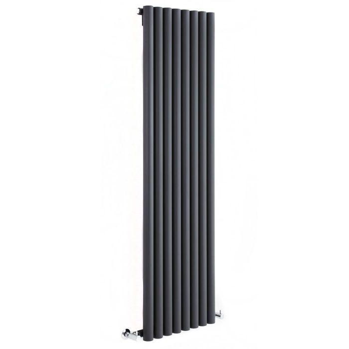 "Savy - Anthracite Vertical Single-Panel Designer Radiator - 70"" x 18.5"""