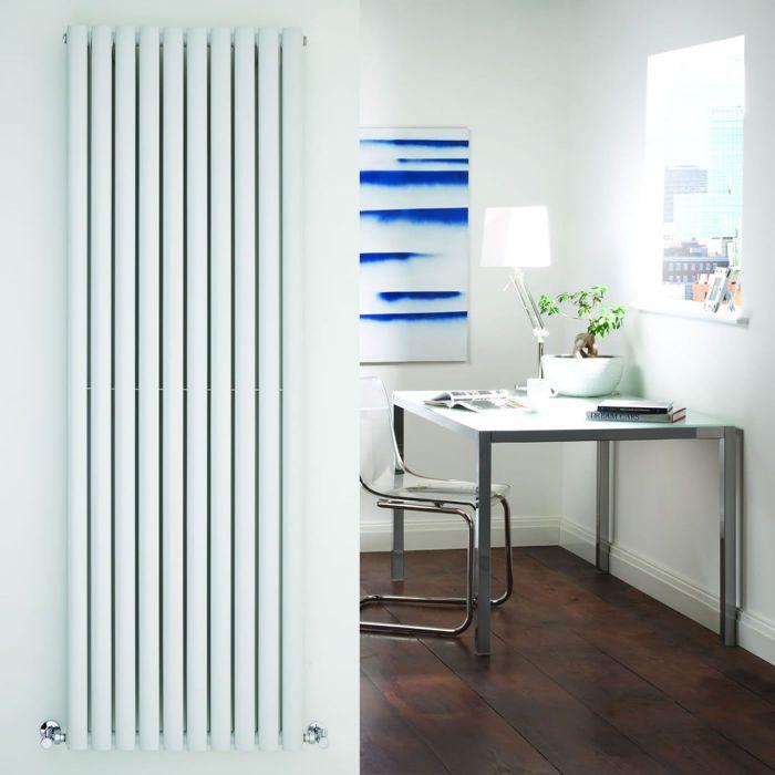 "Revive - White Vertical Double-Panel Designer Radiator - 70"" x 23.25"""