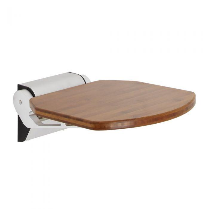 Modern Bamboo Folding Shower Seat Narrow Base
