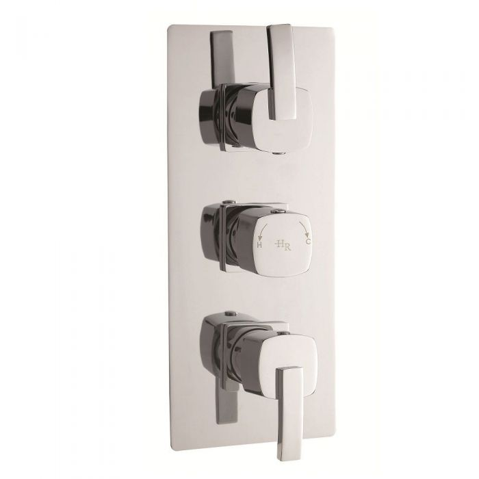 Arcade Triple Concealed Thermostatic Shower Valve 2 Outlet Options