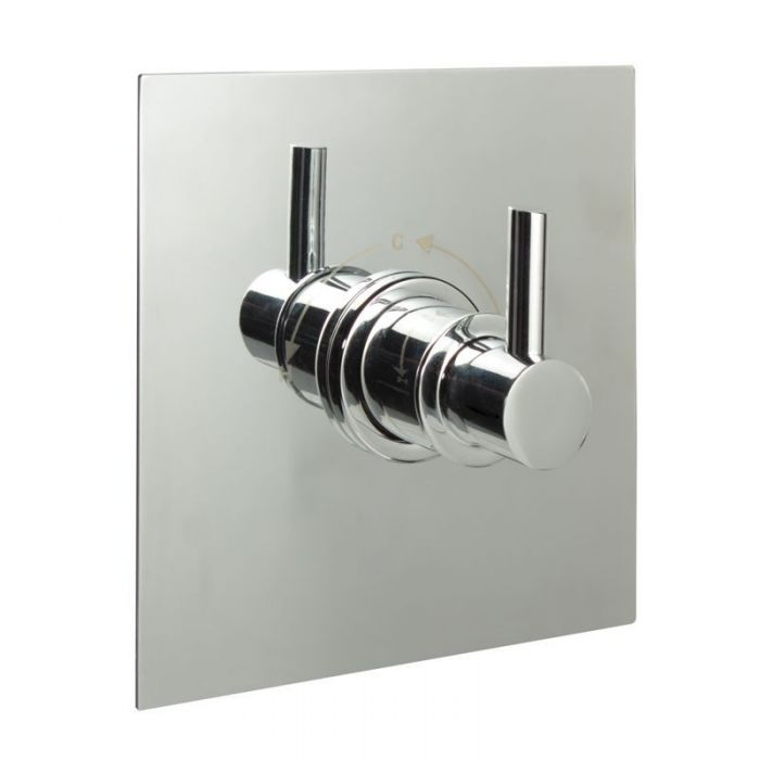 """3/4"""" Sequential Valve, Square Plate & Modern Lever Handle"""