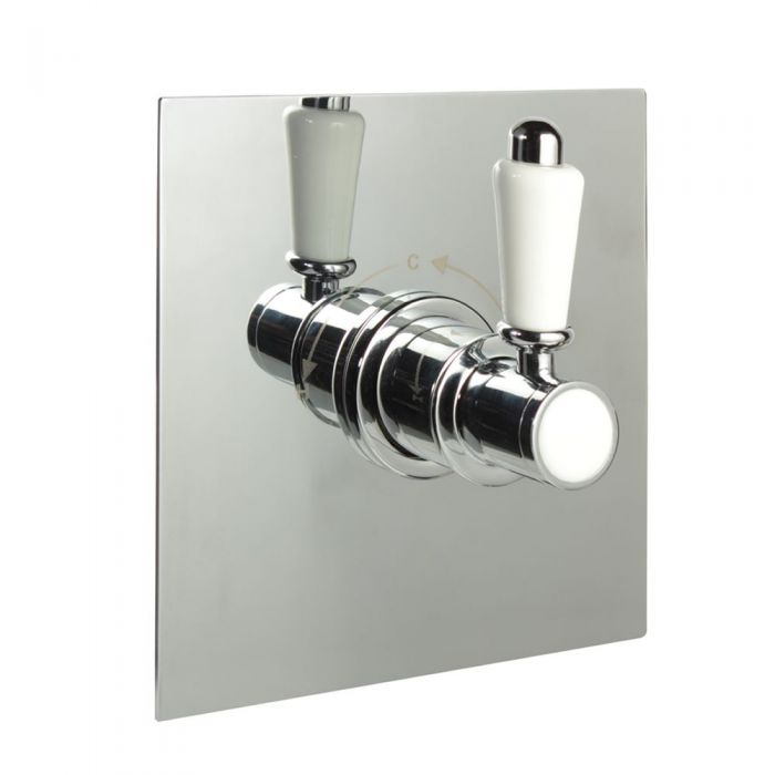 """3/4"""" Sequential Valve, Square Plate & Traditional Lever Handle"""