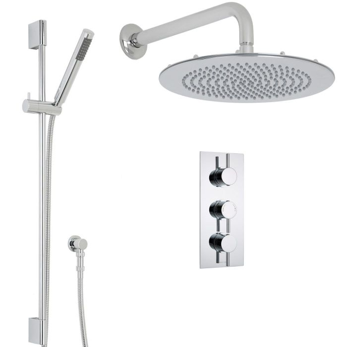 """Quest Thermostatic Shower System with 12"""" Head & Handshower"""