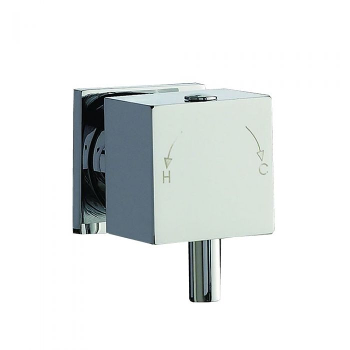 Square Temperature Handle with Lever