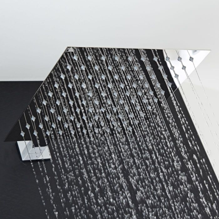 """12"""" Square Shower Head with Rectangular Wall Arm"""