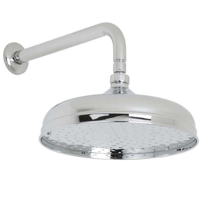 """Valquest 12"""" Traditional Shower Head with Wall Arm"""