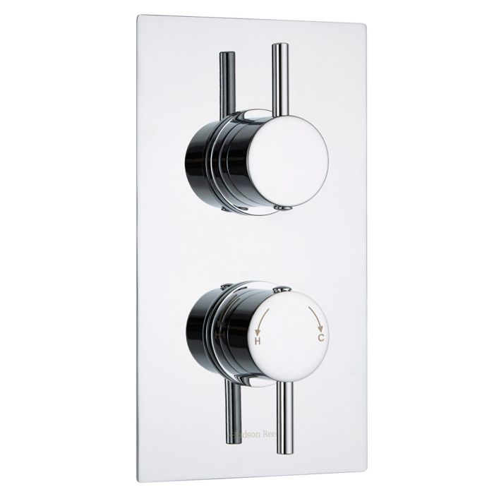 Quest Concealed 2 Outlet Twin with Diverter Thermostatic Shower Valve