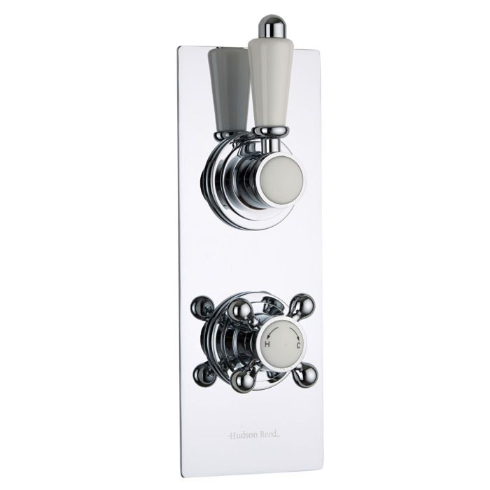 Traditional Concealed 1 Outlet Twin Thermostatic Shower Valve (Slim Plate)