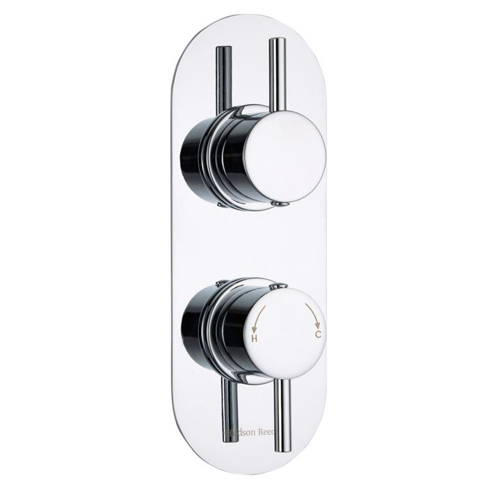 Quest Concealed 1 Outlet Twin Thermostatic Shower Valve (Racetrack Plate)