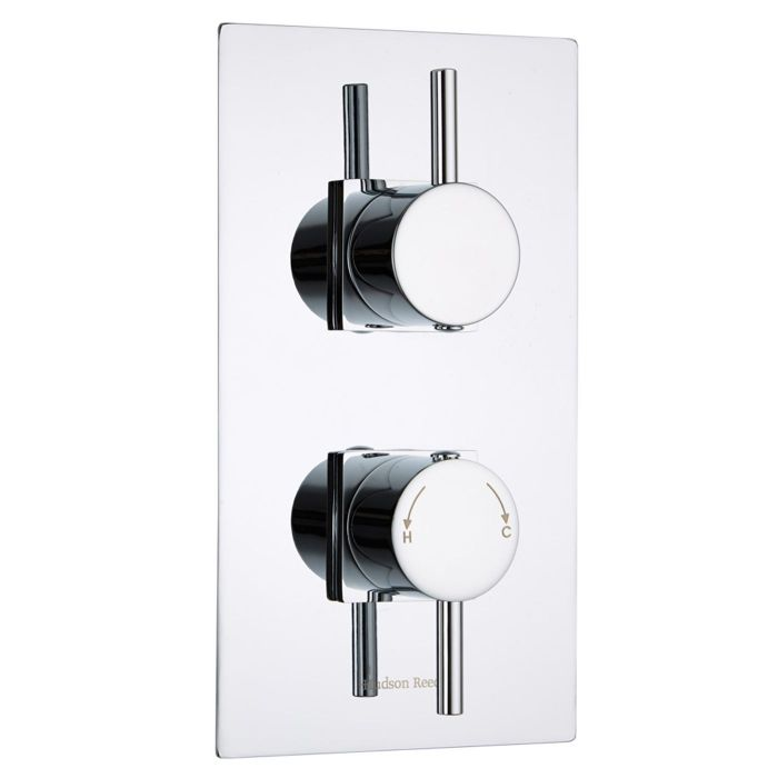 Quest Concealed 1 Outlet Twin Thermostatic Shower Valve (Square Flange)