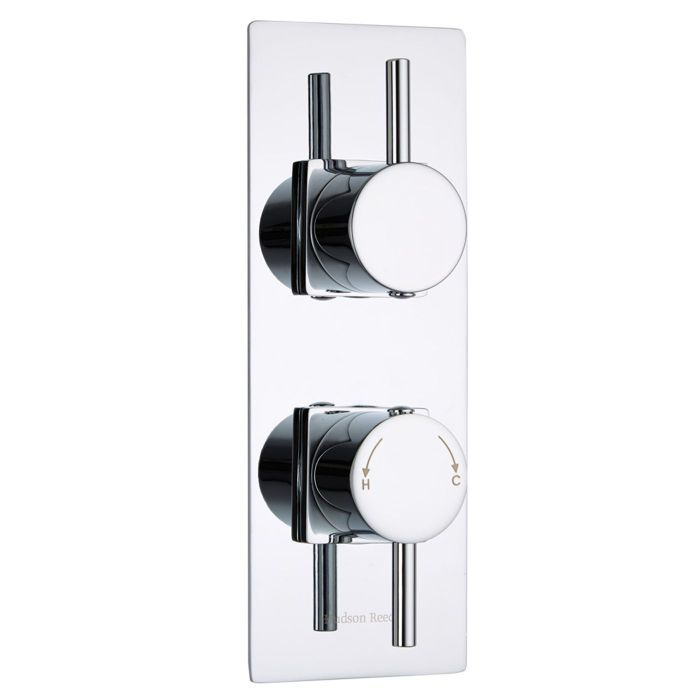 Quest Concealed 2 Outlet Twin with Diverter Thermostatic Shower Valve (Slim Trim Plate)