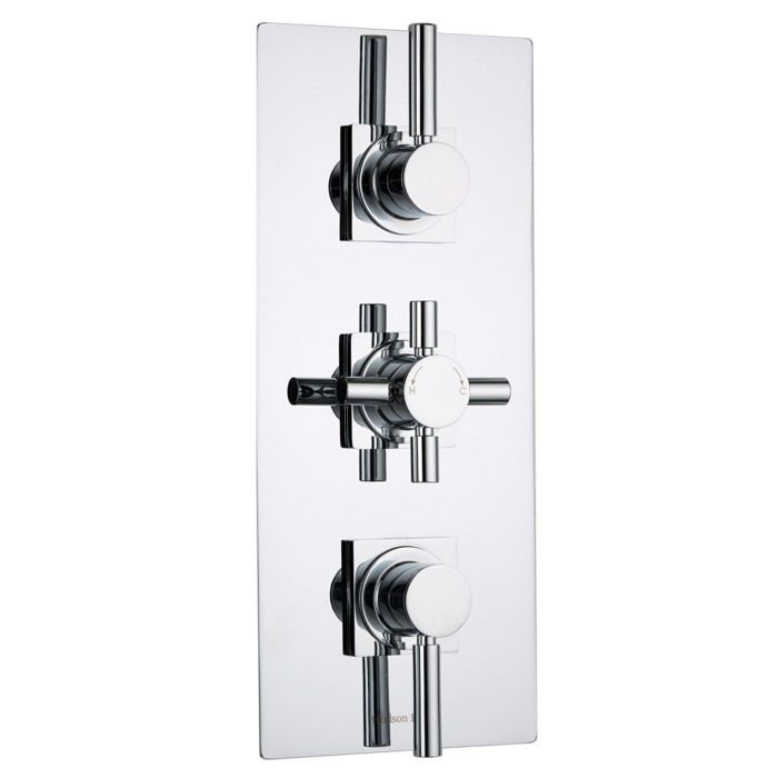 Tec Concealed 2 Outlet Triple Thermostatic Shower Valve (Square Flange)