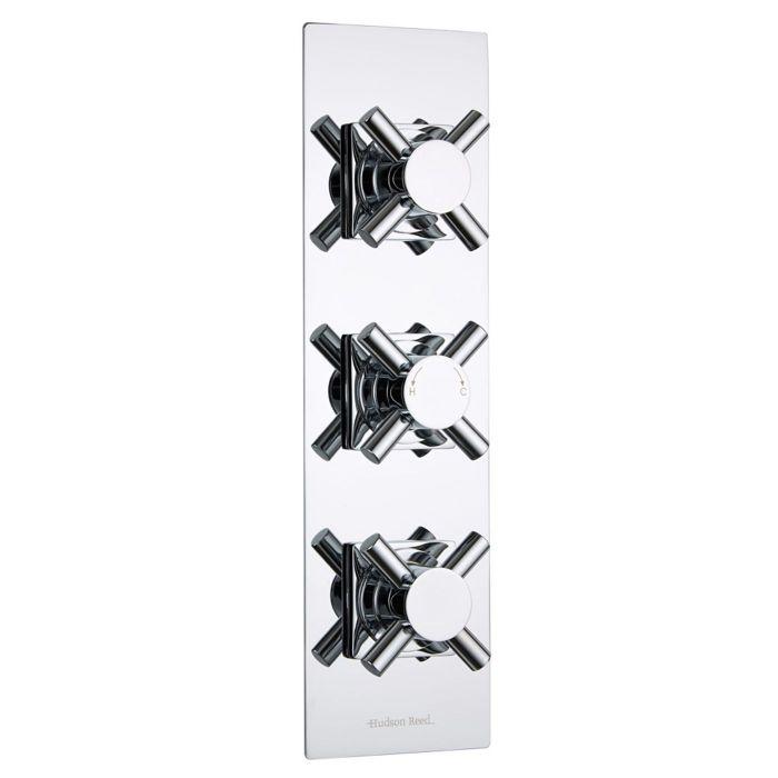Kristal Concealed 3 Outlet Triple with Diverter Thermostatic Shower Valve (Slim Trim Plate)
