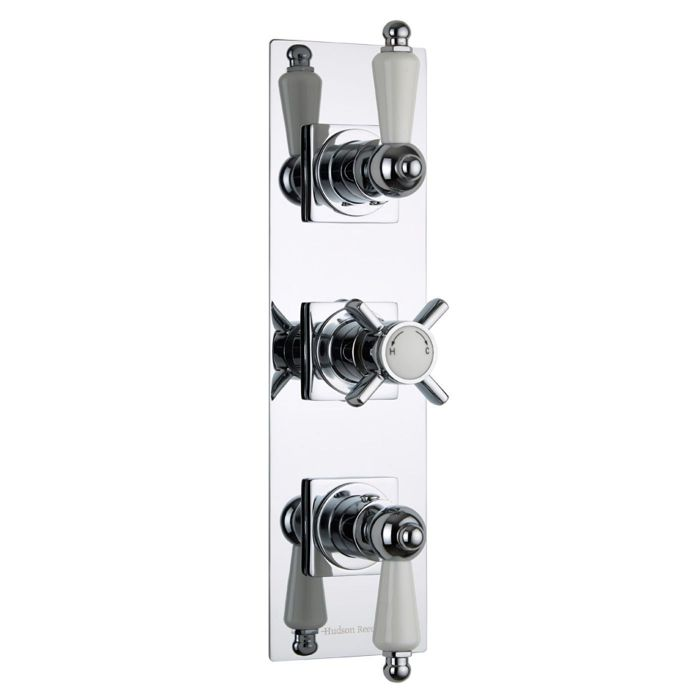 Beaumont Concealed 2 Outlet Triple Thermostatic Shower Valve (Slim Trim Plate)