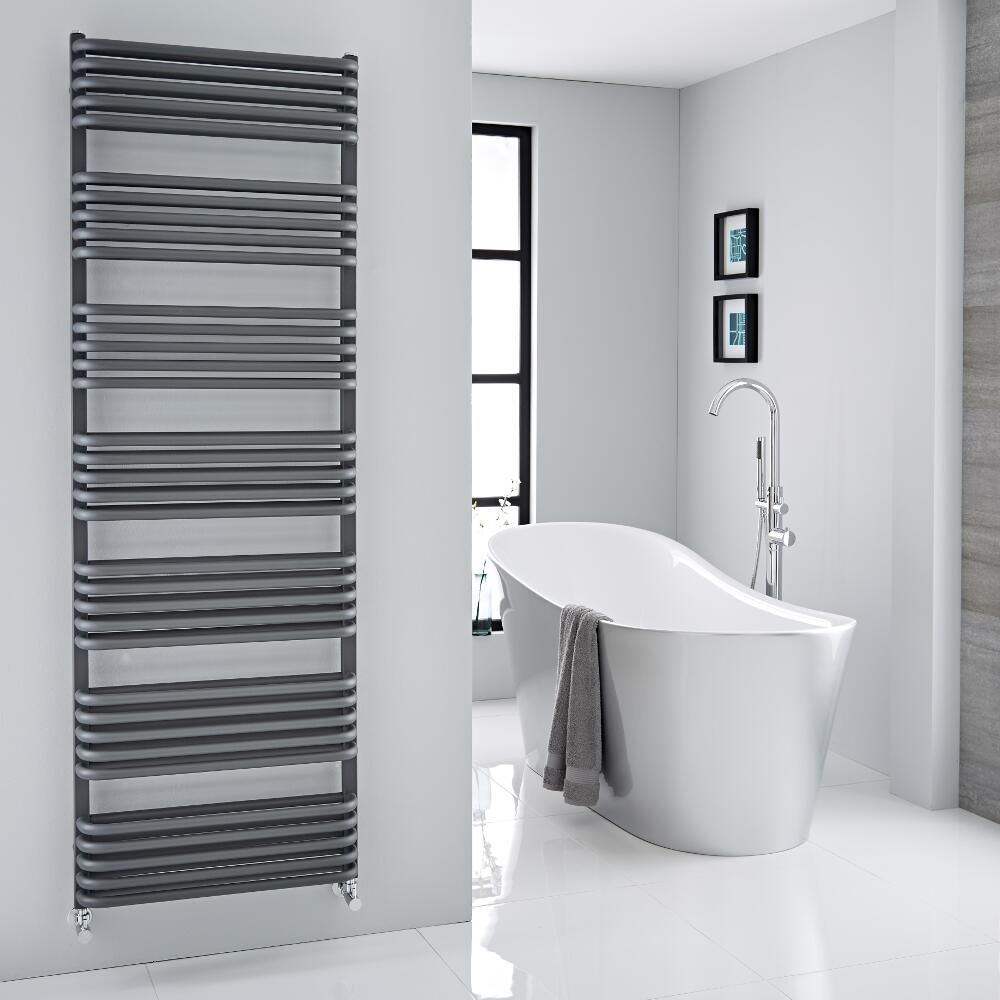 Arch Anthracite Hydronic Heated Towel Warmer 70 75 Quot X