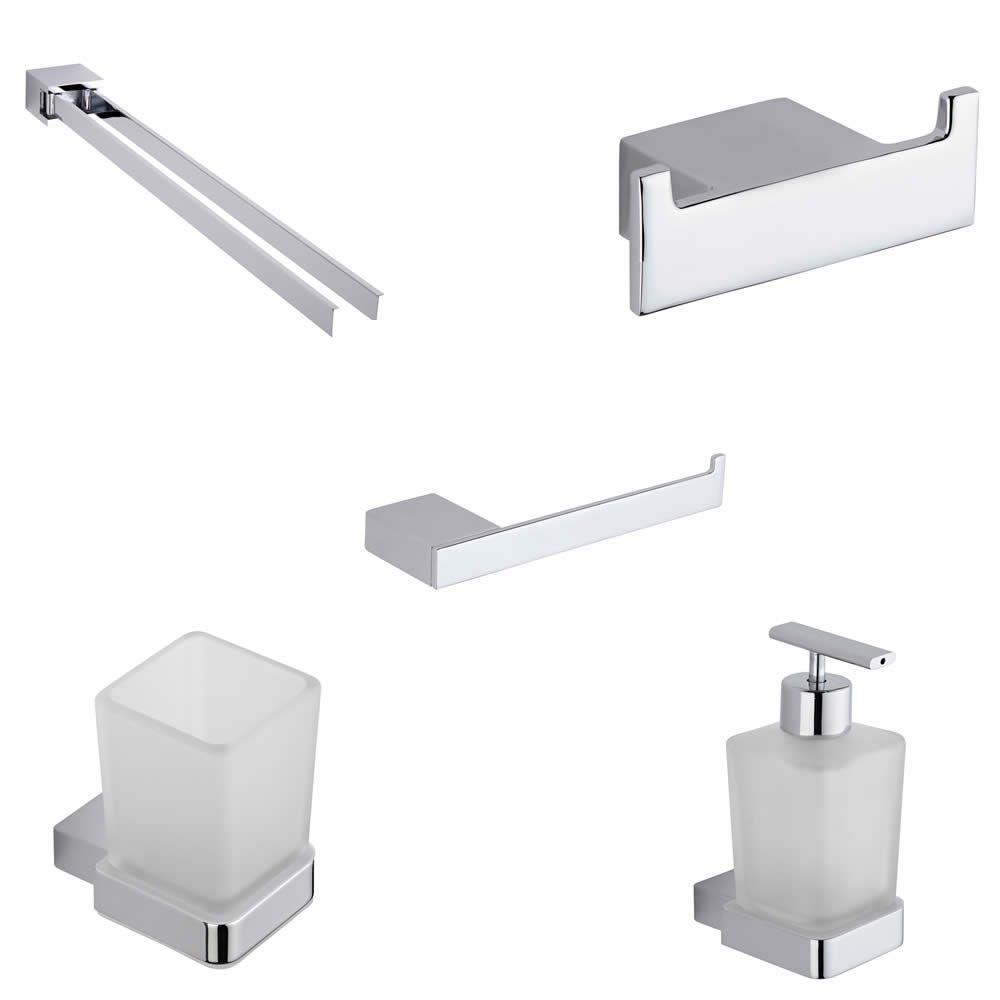 Parade Chrome 5 Piece Bathroom Accessory Set