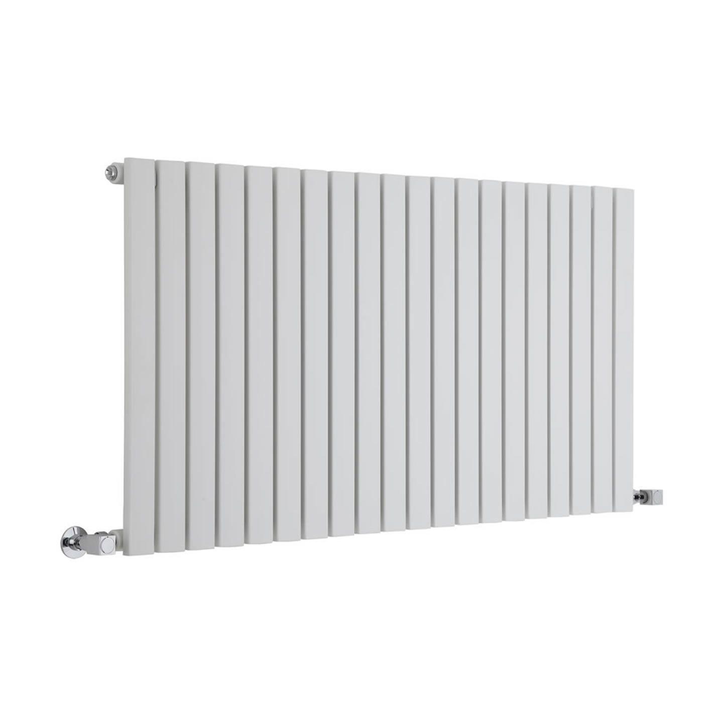 sloane white horizontal single flat panel designer radiator 25 x 46 5. Black Bedroom Furniture Sets. Home Design Ideas