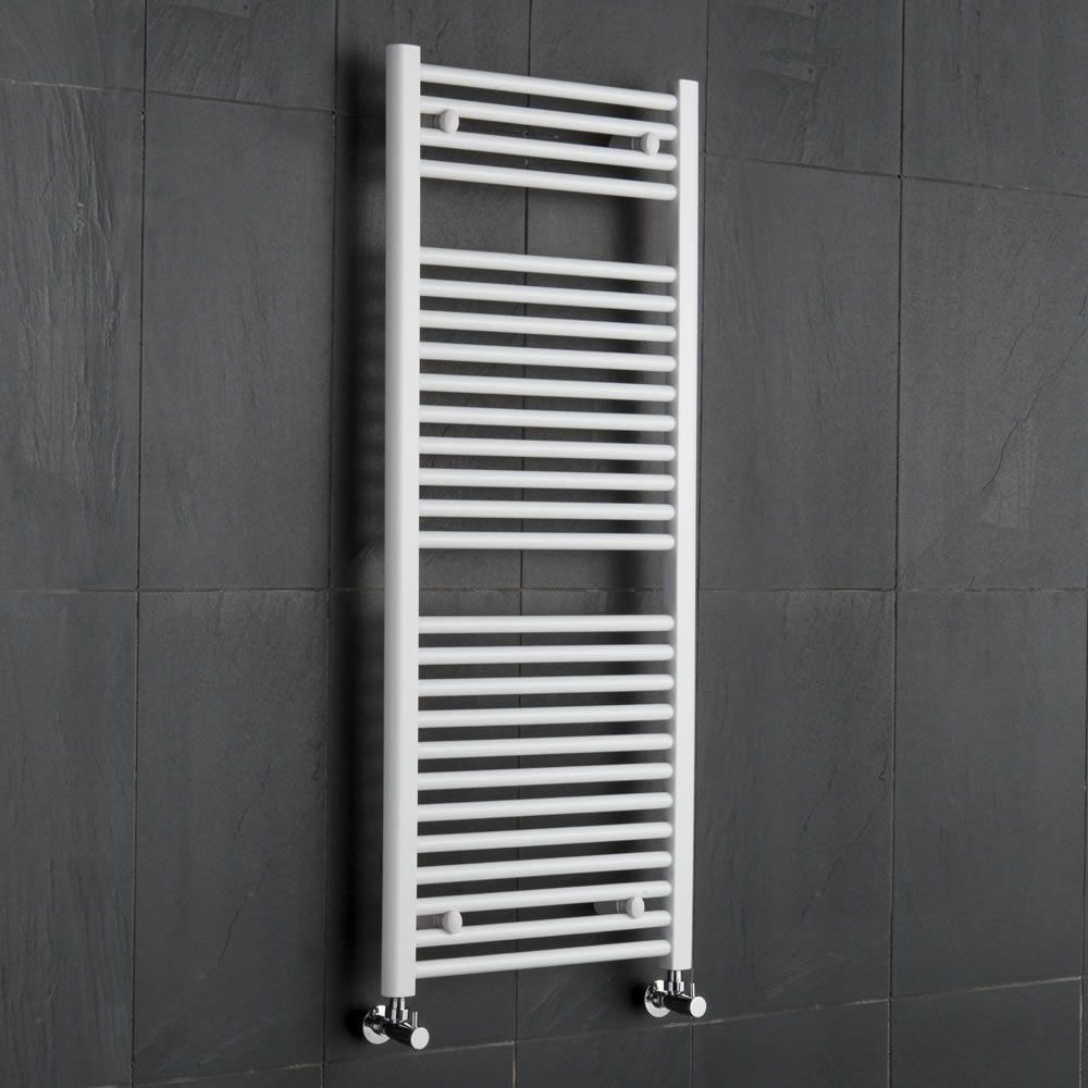Towel Heaters For Sale: Hydronic White Heated Towel Warmer