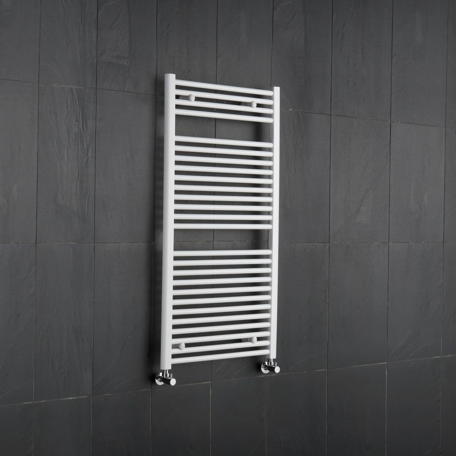 Etna Hydronic White Heated Towel Warmer 47 25 Quot X 23 5 Quot