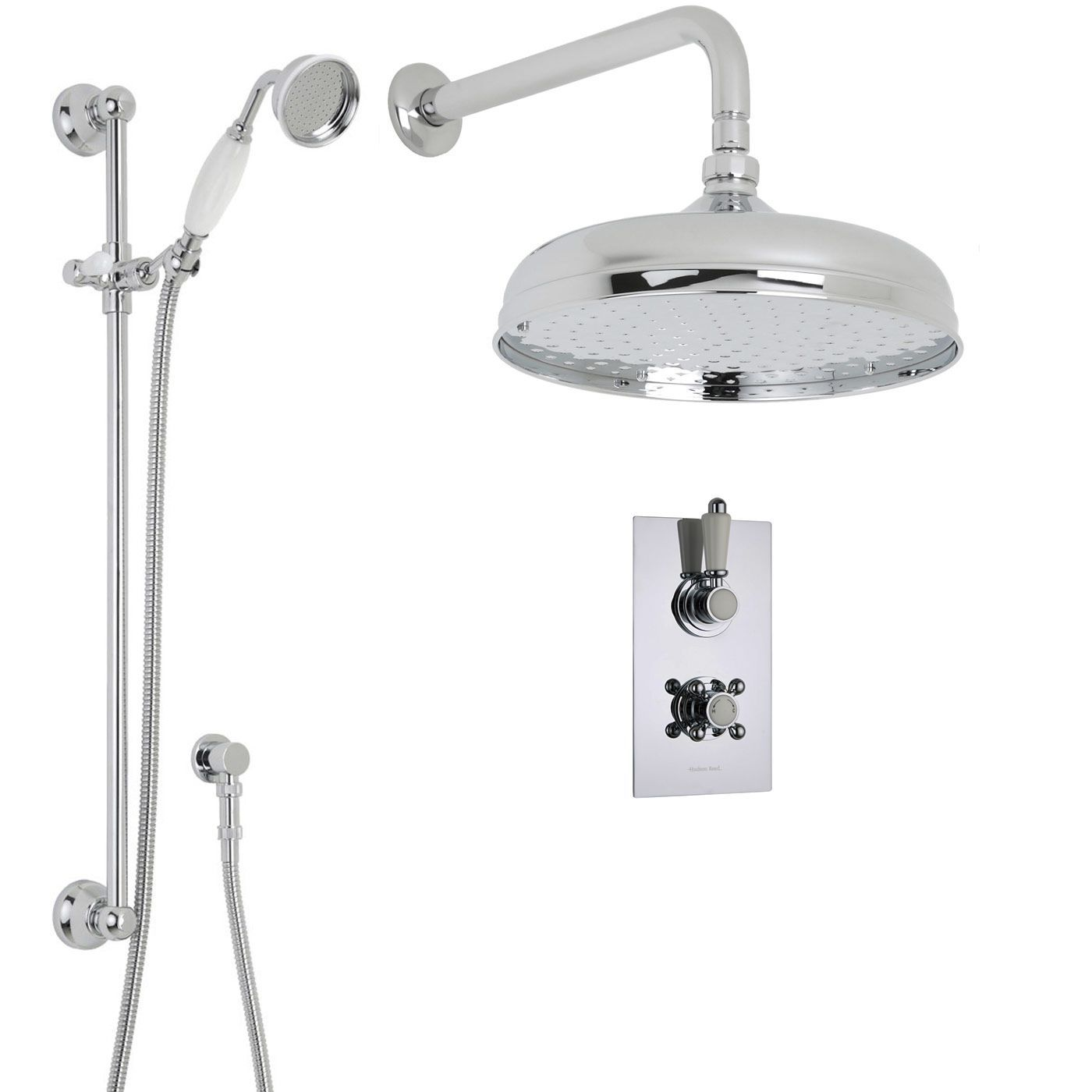 Traditional Thermostatic 2 Outlet Shower System with 12\