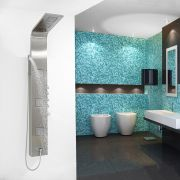 Entice Thermostatic Shower Panel - Stainless Steel